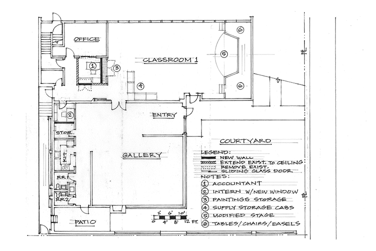 OSA Building Renovation proposed Ground Floor plan