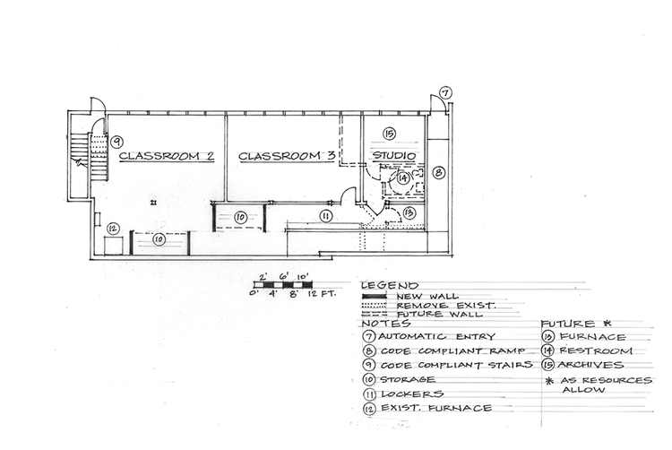 OSA Building Renovation proposed Lower Level